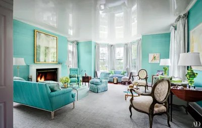 living room ideas with turquoise walls images of furniture arrangements blue green painted inspiration architectural digest augusta and gill holland turned to architect joel barkley designer todd klein update ashbourne