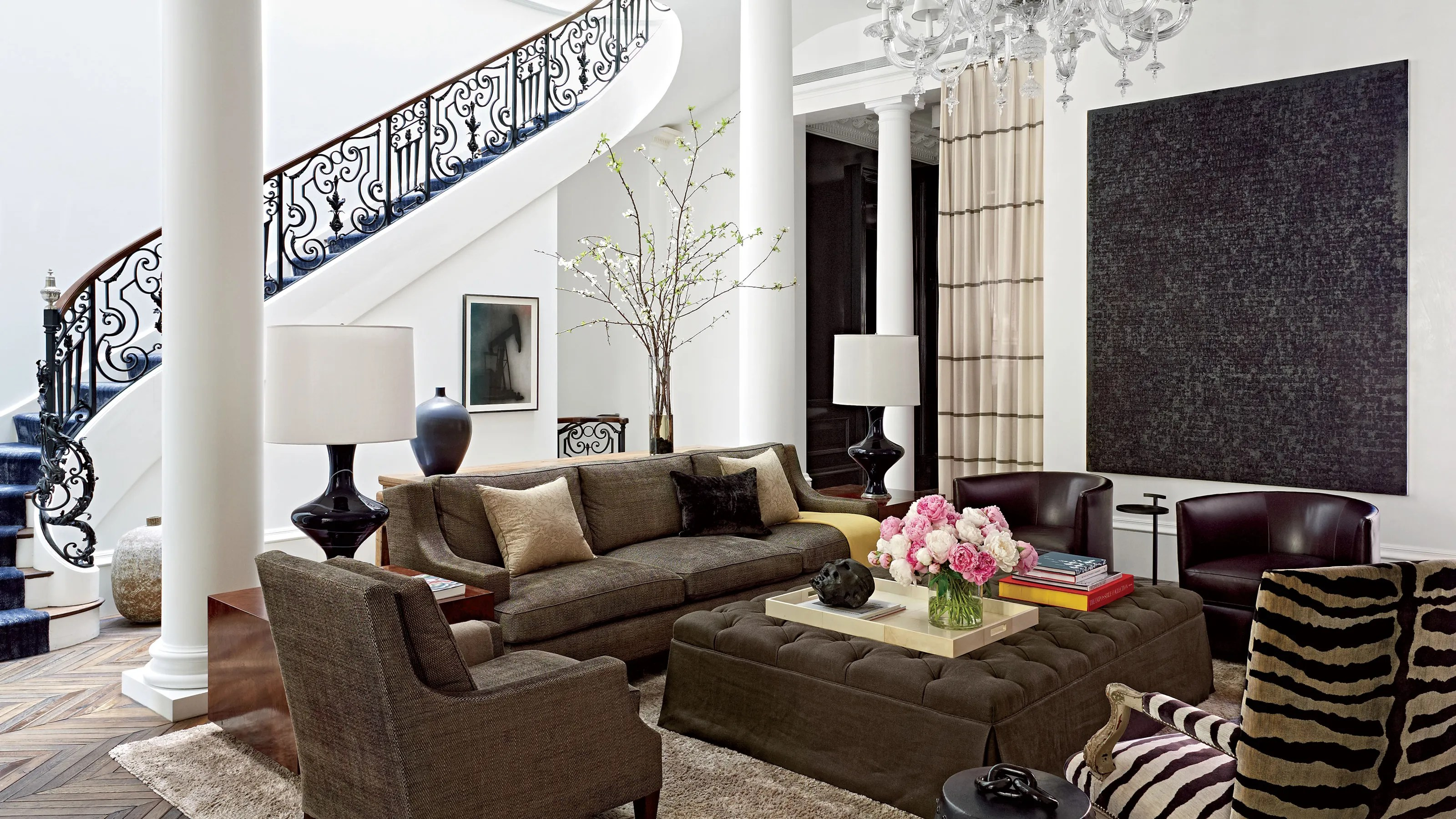 living room boston black and beige curtains a historic townhouse gets glam update architectural digest