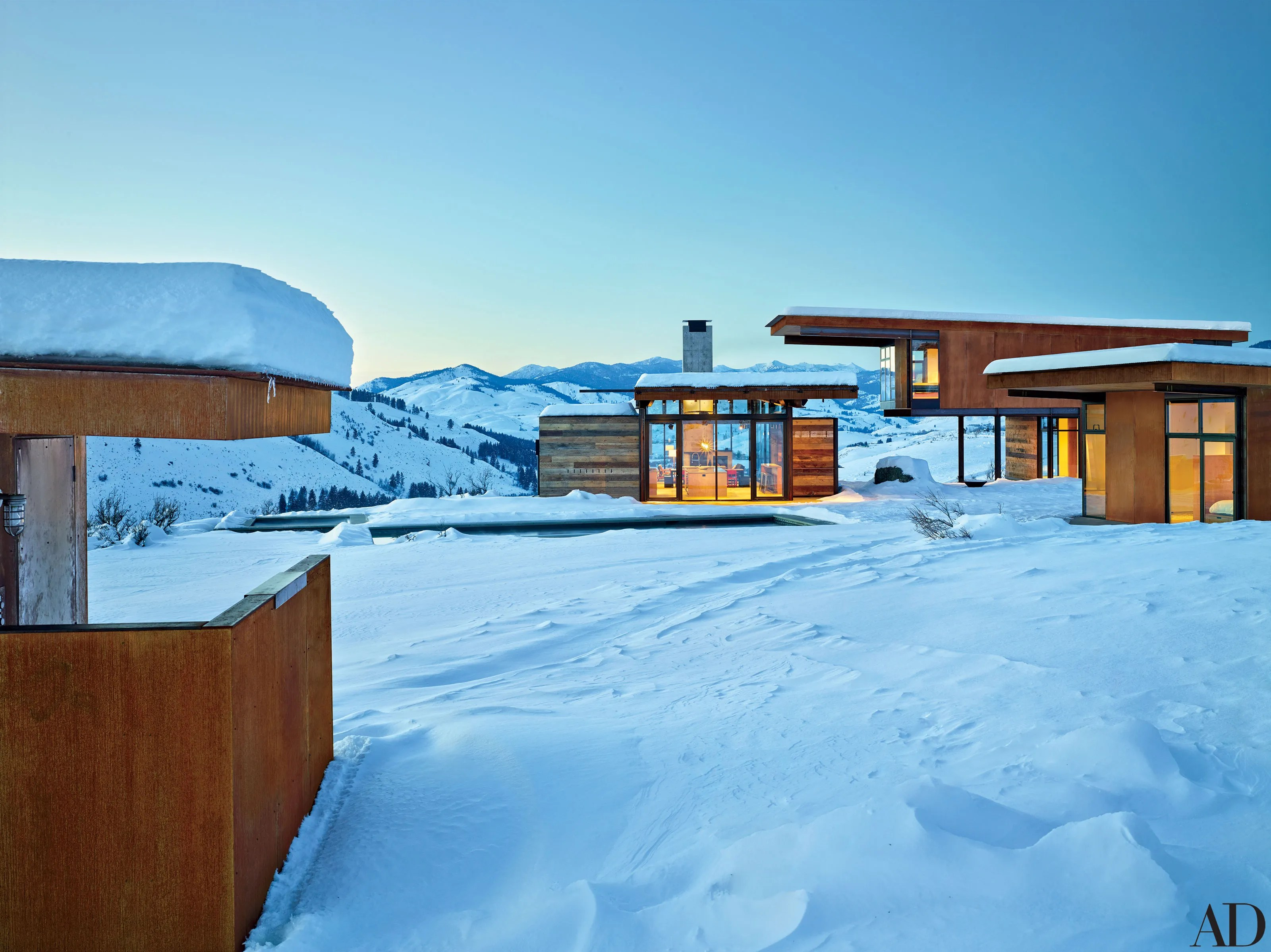 This Sleek Mountain Compound Is The Perfect Getaway For A