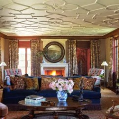 Warm Color Schemes For Living Rooms Behr Paint Colors Room 31 Gorgeous Featuring Architectural Digest At The Greenwich Connecticut Home Of Tommy Hilfiger Labyrinthine Plasterwork Ceiling Was Executed