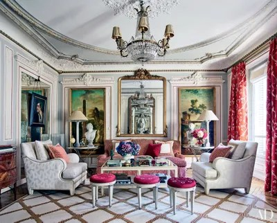 What Ears To Be A Gilt Framed Mirror In Designer Timothy Corrigan S Paris Apartment Is Actually Window Aligned With Two Mirrors One The Living Room
