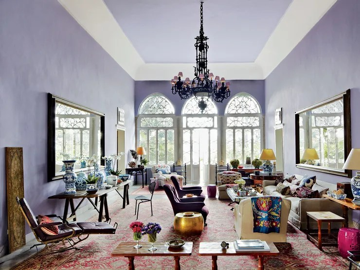 metal garden table chairs stair lift look inside may daouk's eclectic 19th-century villa in lebanon | architectural digest