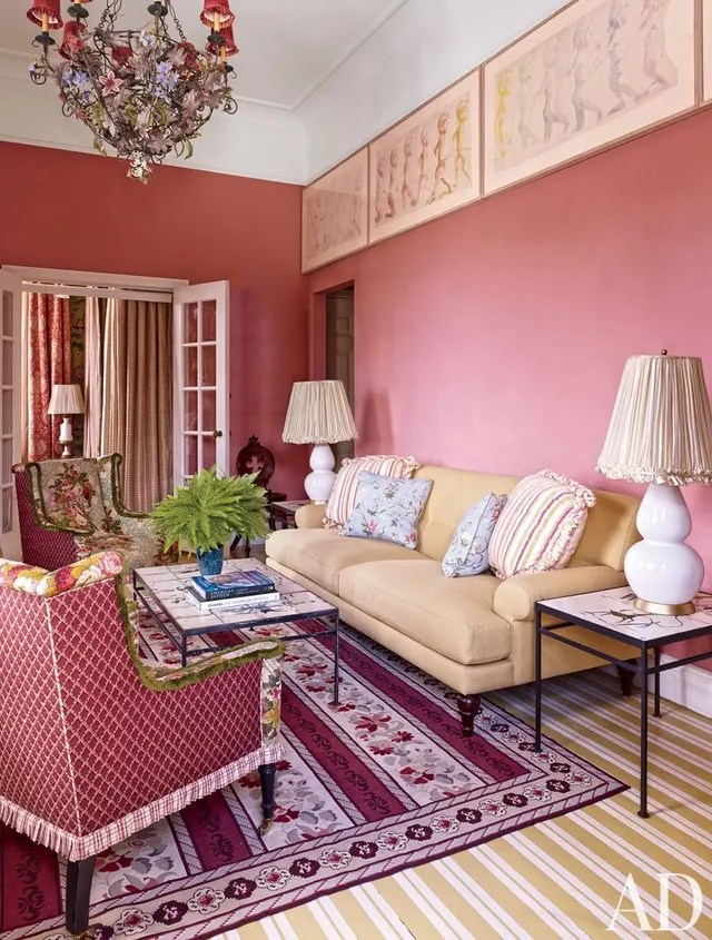 Pink Paint Room Ideas and Inspiration Photos