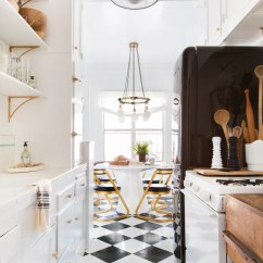 Kitchen Linoleum Small Set A Clever Tile Solution Architectural Digest Designer And Homeowner Brady Tolbert Used Peelandstick Tiles To Cover The Floor In His Rental