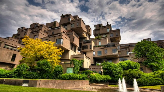 An Exterior View Of Habitat 67 A Structure That Put Architect Moshe Saf On The