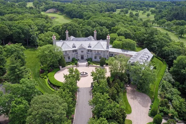 Location: Chestnut Hill, MassachusettsBuilt: 1999Price: $90,000,000 Bed/Baths: 8 bedrooms, 7 full and 5 partial bathroomsSq. Footage: 26,623Lot Size: 13.86 acres