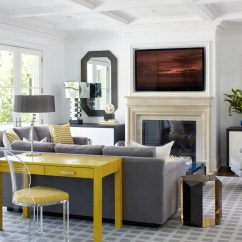 Lighting For Living Rooms Ideas Luxury Leather Room Sets 9 Best Architectural Digest Gray With Yellow Desk
