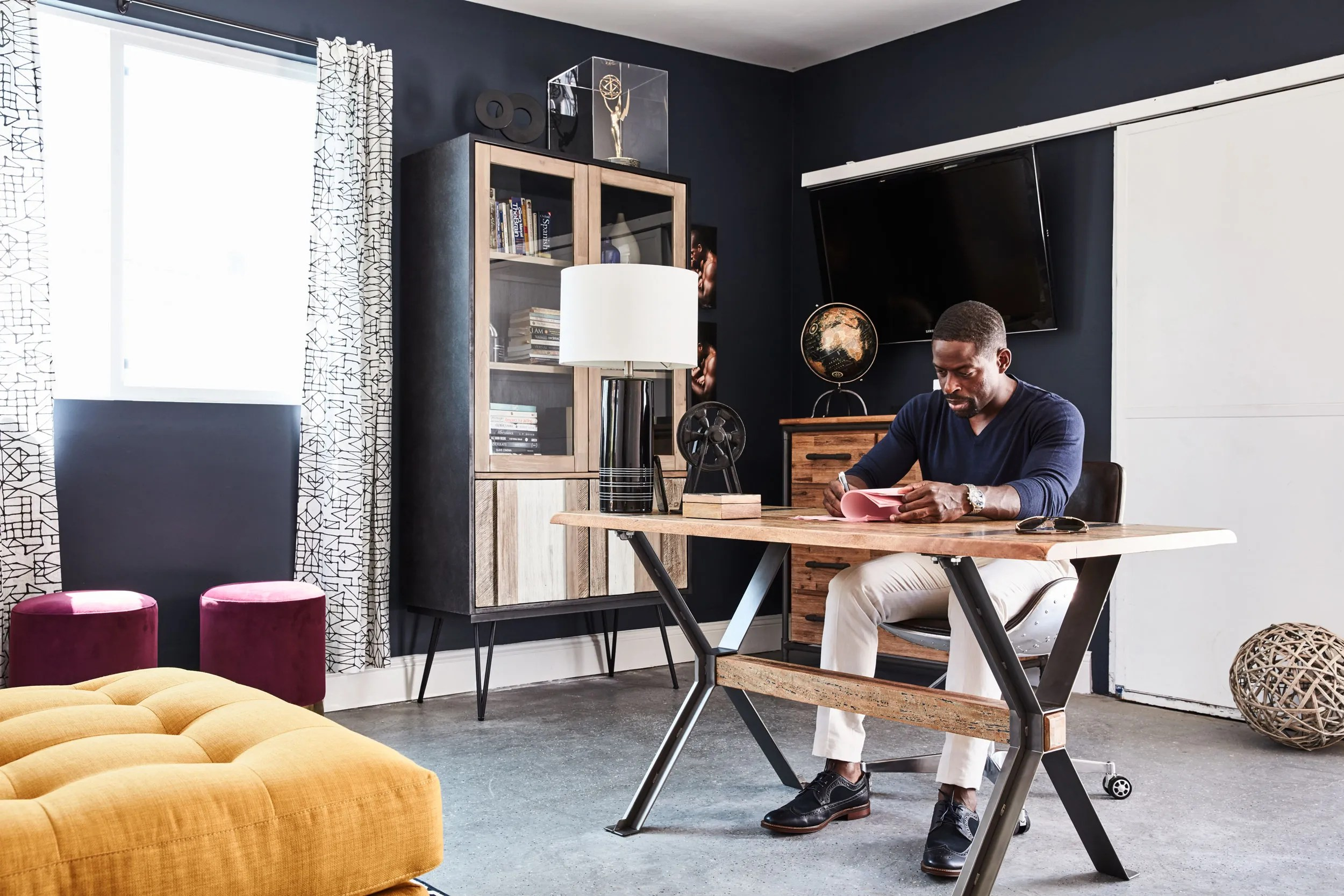 Sterling K Brown Gave His Garage A Makeover For The Ultimate Office