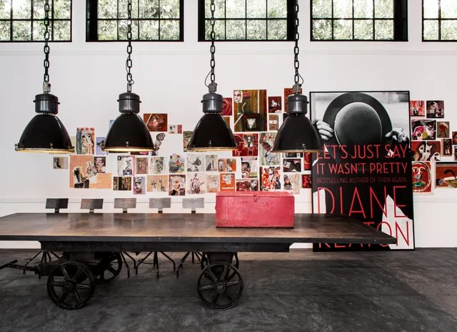 Office in Diane Keaton home, for the book The House that Pintrerest Built