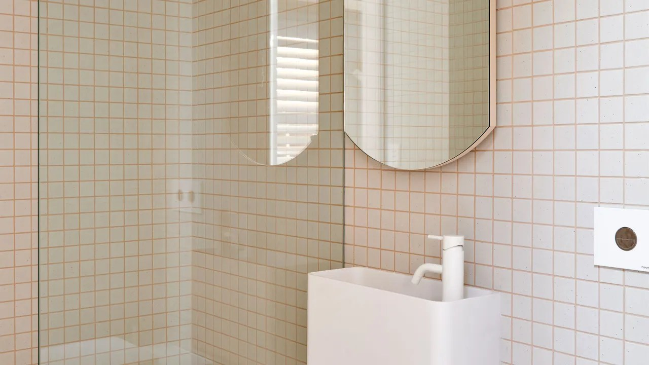 Bathroom Grout Colored Grout Makes Basic Tile Look Cool Architectural Digest