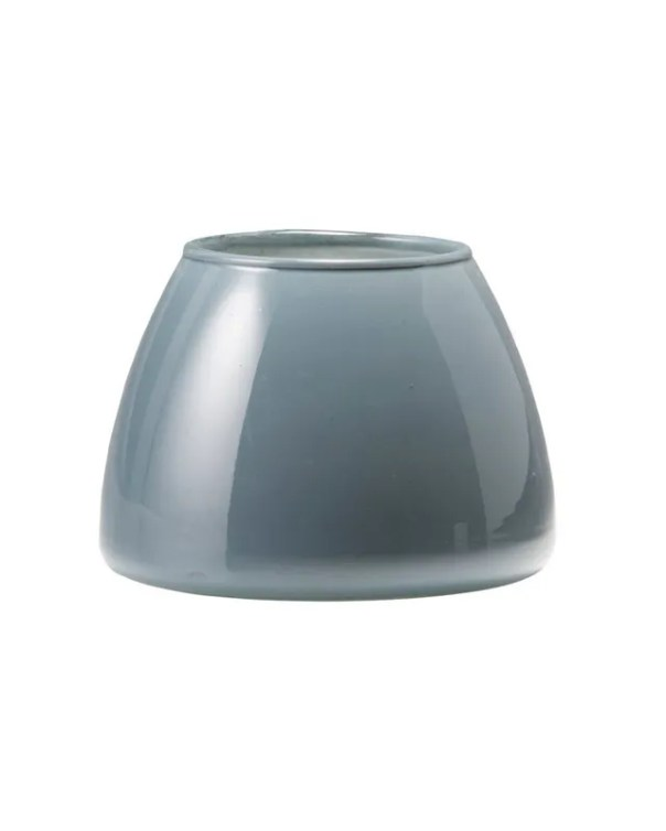 Italian glass votive in gray-blue