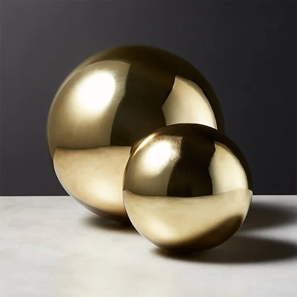 Gold bubble sphere