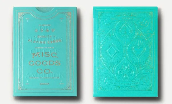 teal playing cards