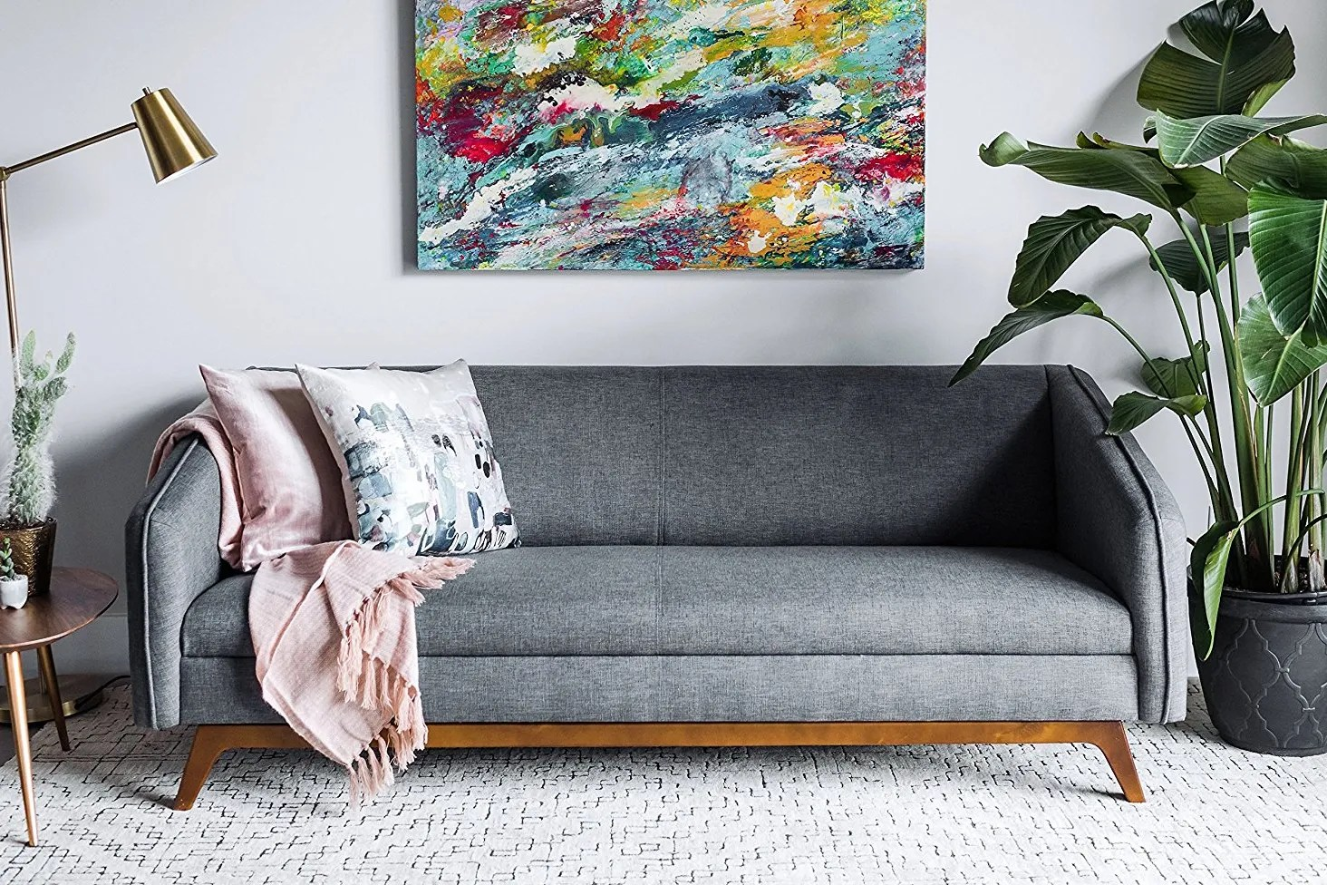 amazon com living room furniture dark grey rugs cheap and home decor that look wayyy more expensive architectural digest