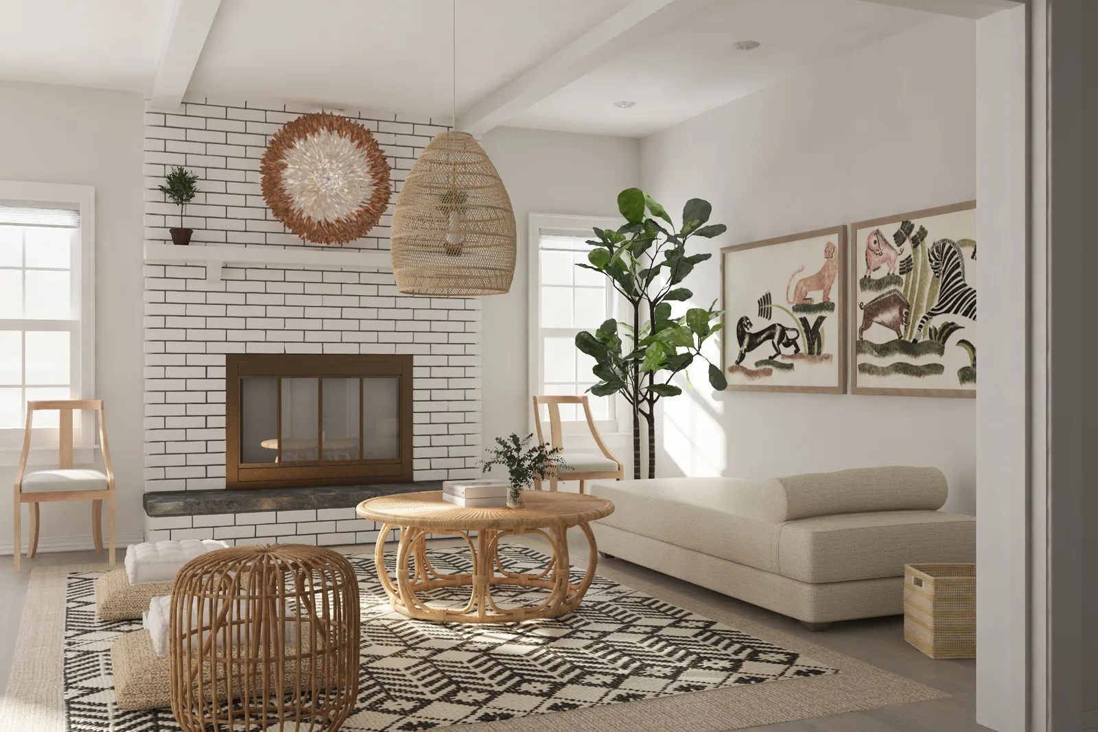 chaise in living room brown couches design how to your without a sofa architectural digest with lounge