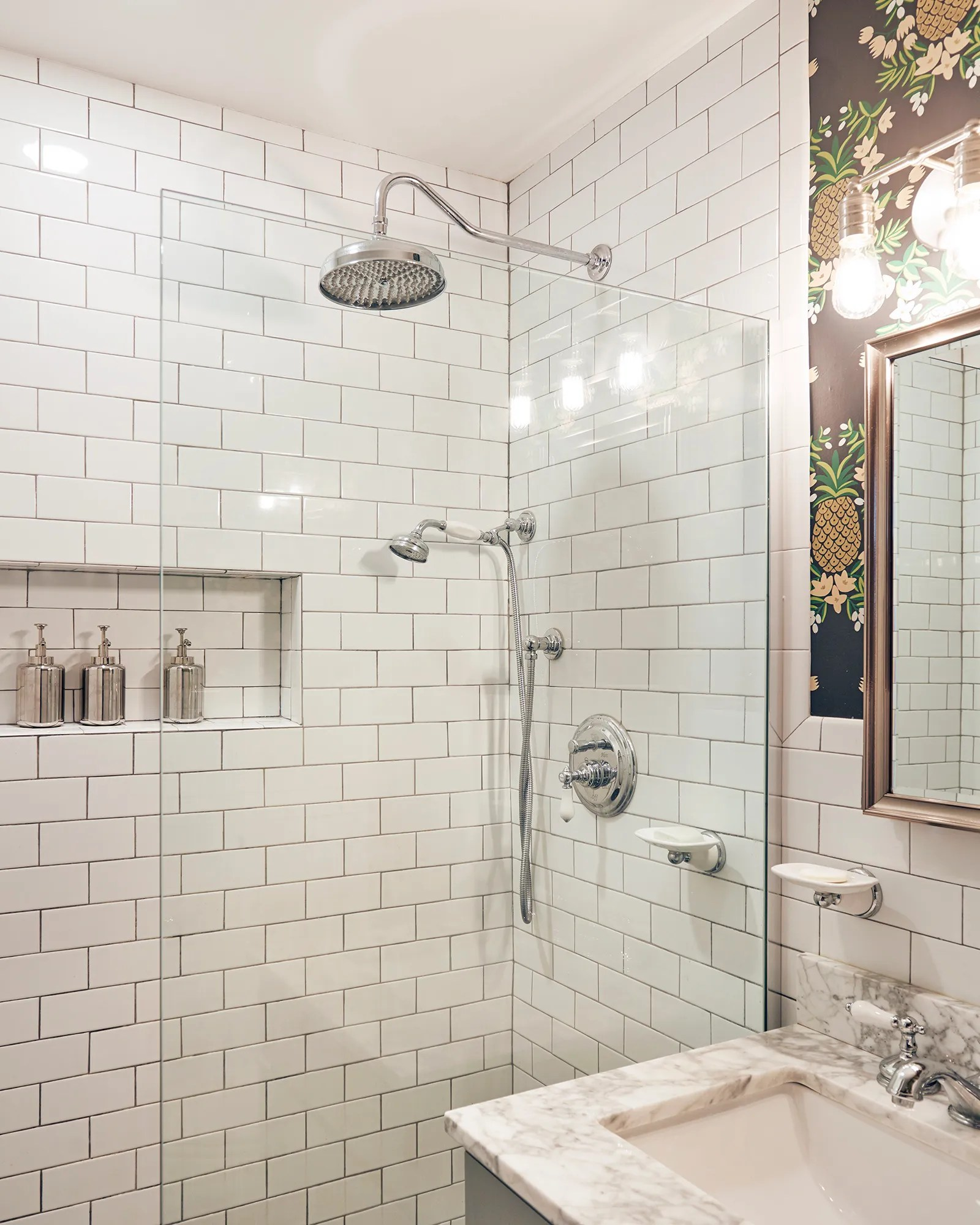 A Tiny Bathroom Renovation Packed With Serious Personality Architectural Digest