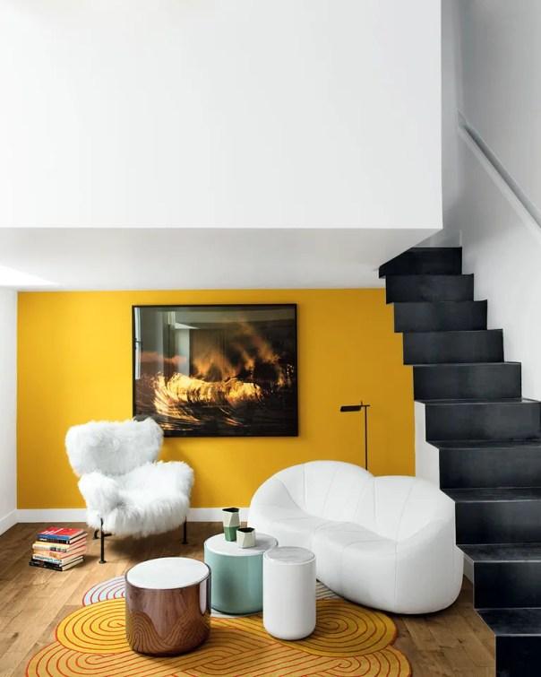 A pumpkin sofa