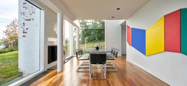 A dining area, meant for the family's extensive entertaining.