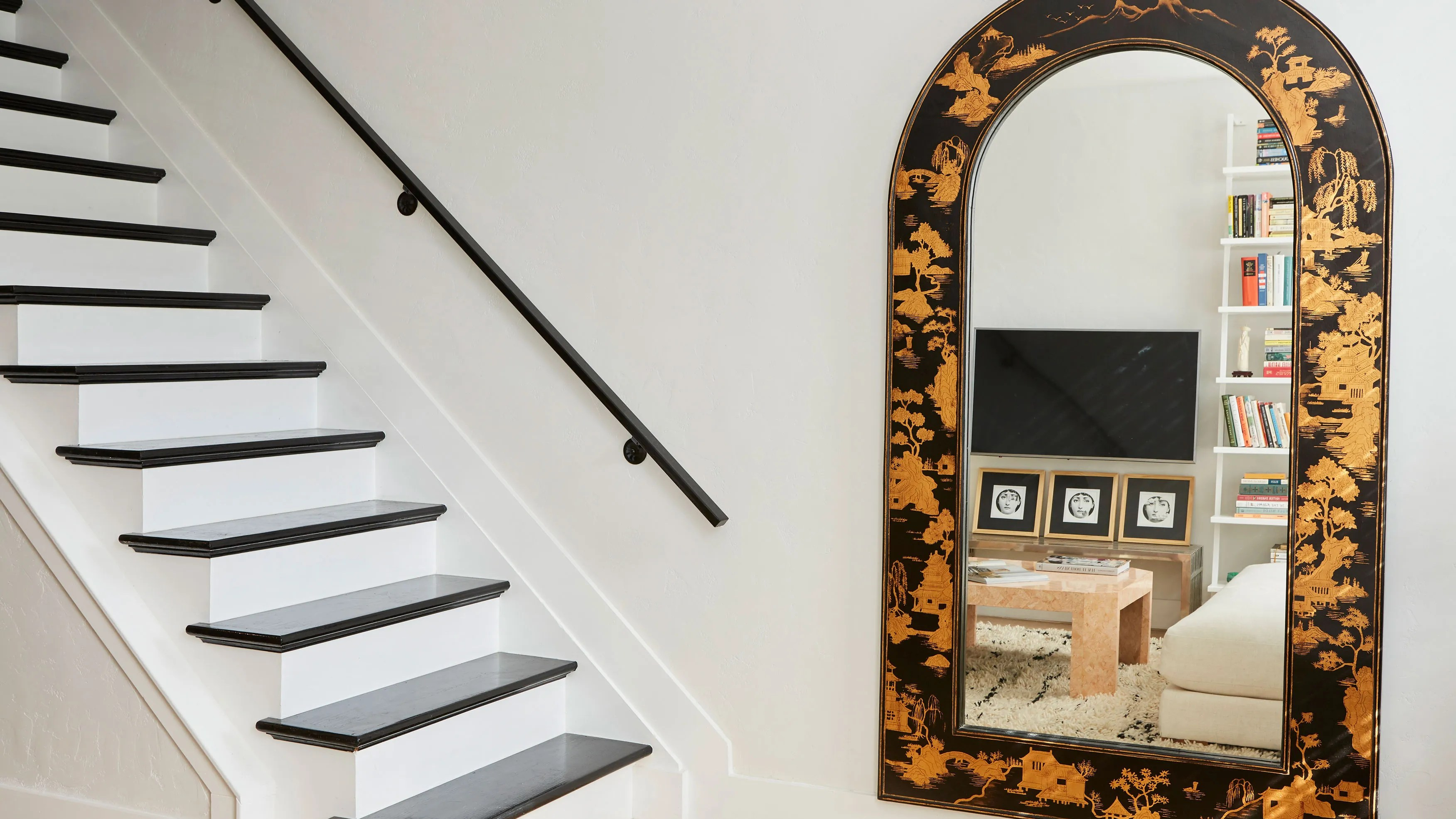 full length mirror in living room transitional style photos 5 floor mirrors to make your feel twice the size its