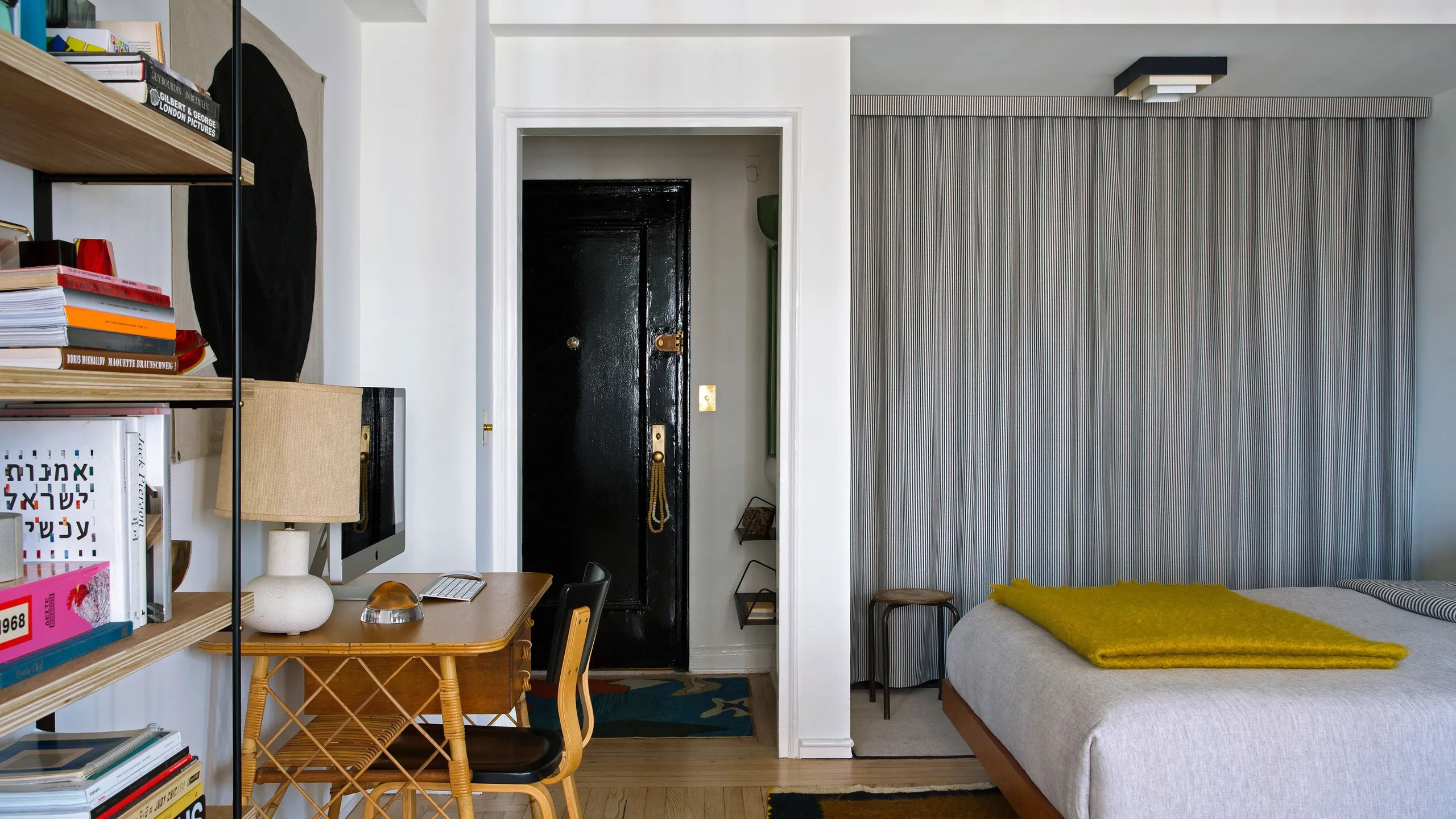 Ditch Your Closet Doors For A Tailored Curtain