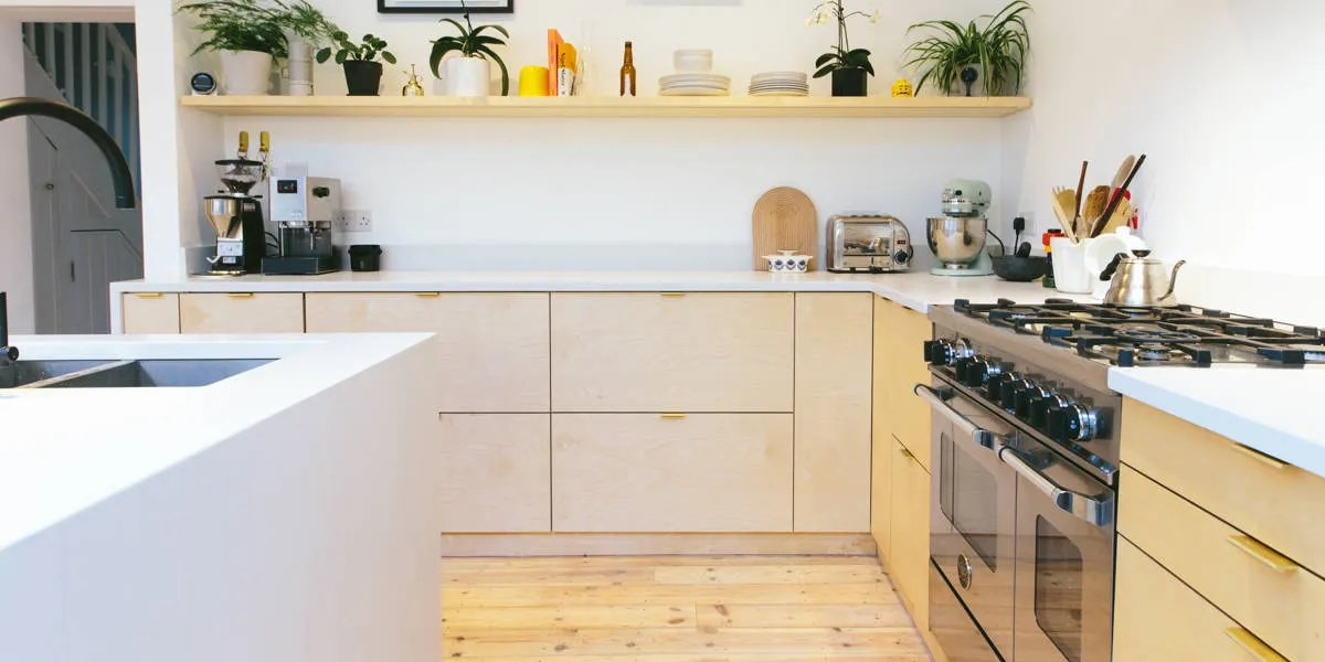 kitchen cabinet covers aid stoves these are the best fronts for ikea cabinets architectural plywood cabinetry with raw pine floor and open shelving in