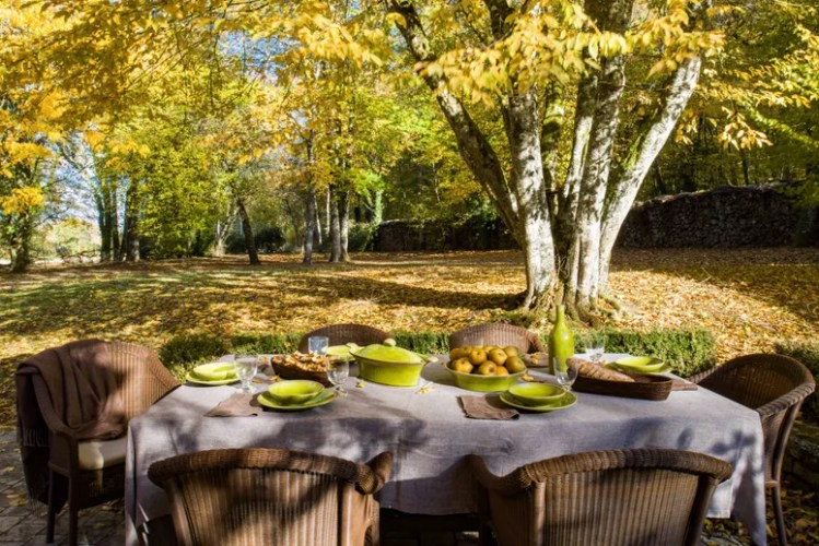 Weather permitting there is lots of outdoor dining. Basmajian created this outdoor area as an extension of the house it...