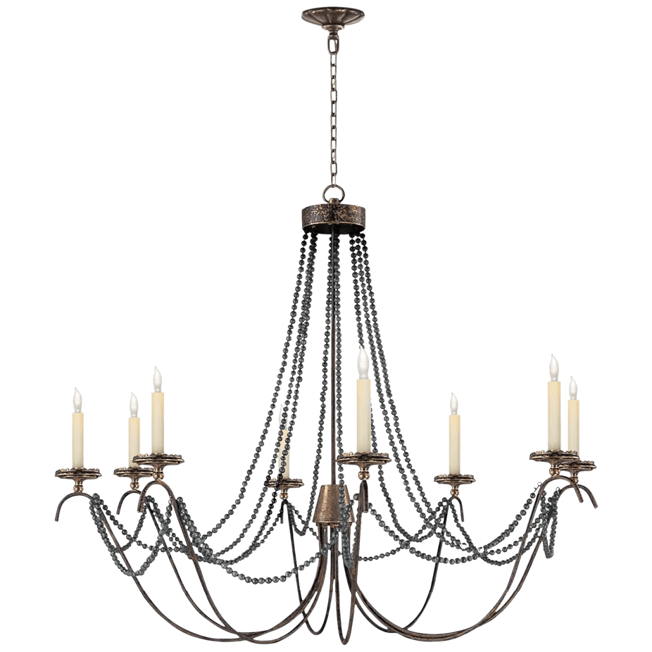 Marigot chandelier by E. F. chapman for Visual Comfort from 1109. circalighting.com