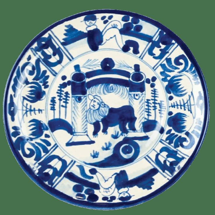 Handpainted Mexican blueandwhite dinnerware from 48. michellenussbaumer.com