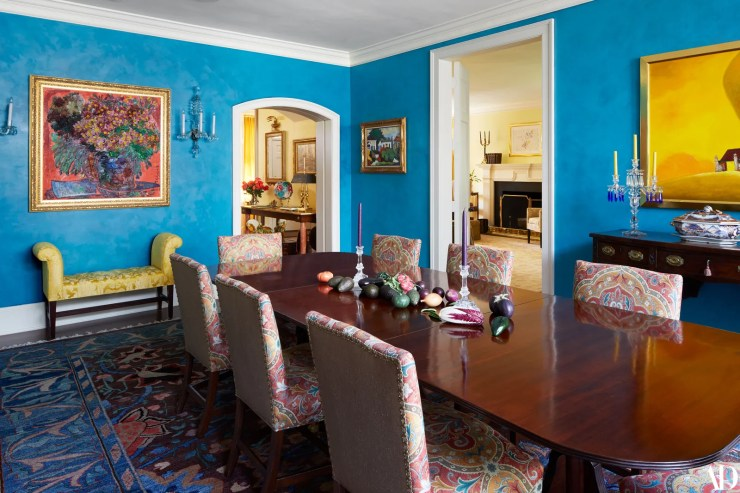 We use this room in several ways says Ms. Clinton of her formal dining room. We have actual dinners buffets or sometimes...