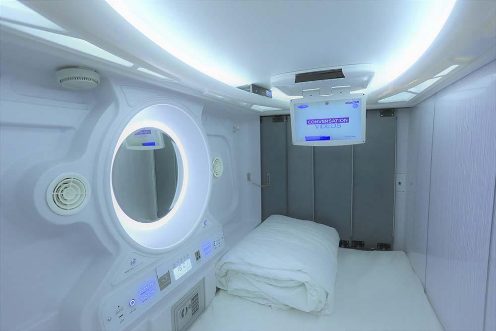 Pods Inside newage hotel at Urbanpod in Andheri Mumbai