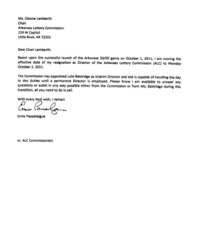 New Ernie Passailaigue resignation letter | NWAonline