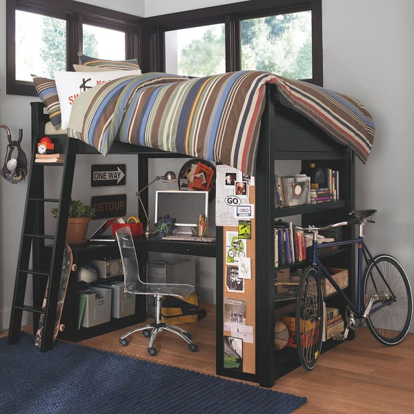 Teen Boys Bedrooms Loft Beds