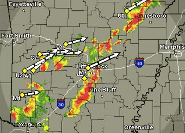 UPDATE: Storms rumble through Arkansas