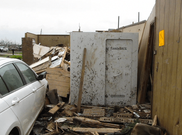 Family survives storm in safe room as home destroyed