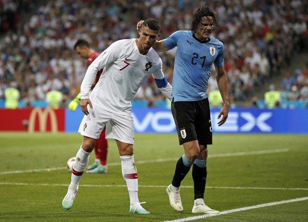 Cavani Scores Twice Uruguay Ousts Ronaldo And Portugal
