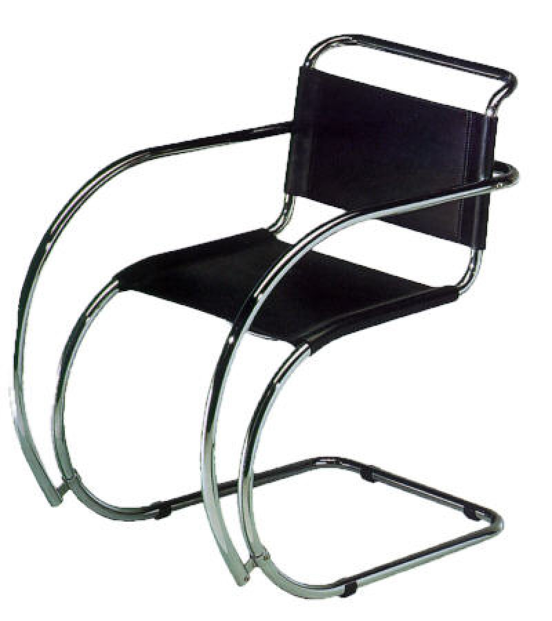 Sedia poltroncina MR armchair chair MR Ludwig Mies Van