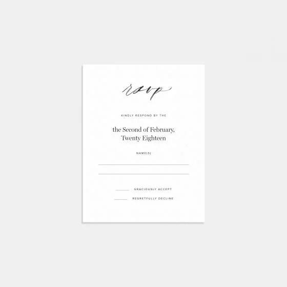 Hand Lettered Rsvp Card