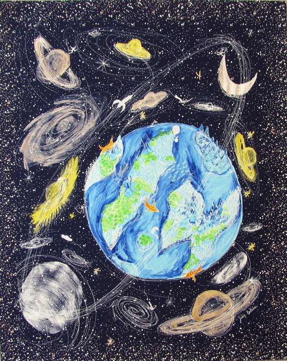 La Terre Vu Du Ciel : terre, Terre, Julie, Zeitline,, Print, Artsper, (379832)