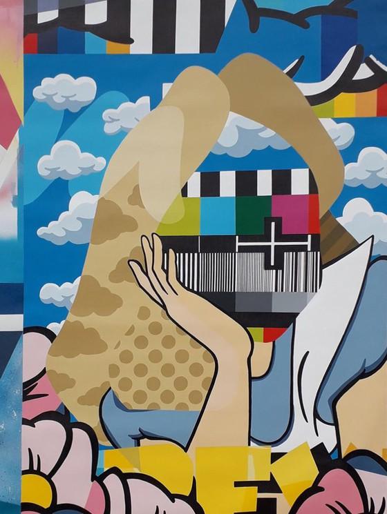 La Tete Dans Les Nuage : nuage, Tête, Nuages, Stéphane, Gubert,, Painting, Artsper, (885090)
