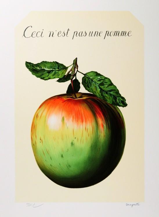 Ceci N'est Pas Une Pipe : n'est, N'est, Pomme, René, Magritte,, Print, Artsper, (902598)