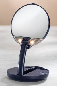 Lighted Travel Makeup Mirror - 15X Magnifying Mirror - As ...