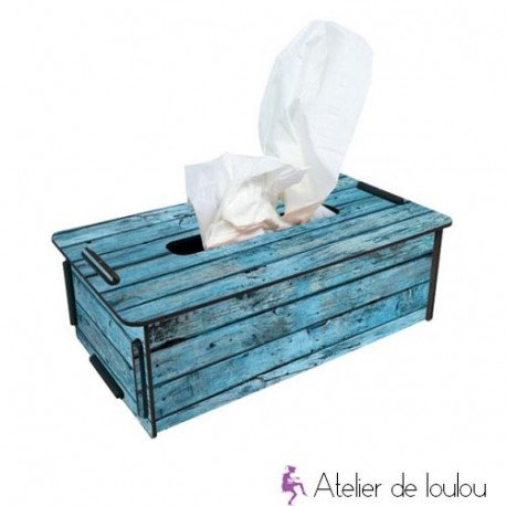 Boite A Mouchoir Bois Recycle Atelier De Loulou