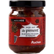 auchan puree de piments 95g pas cher a