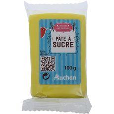auchan auchan pate a sucre jaune 100g