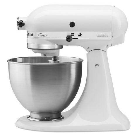 kitchenaid robot patissier multifonction 5k45ssewh blanc