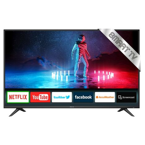 polaroid tvausm554k led 4k uhd 140 cm smart tv netflix