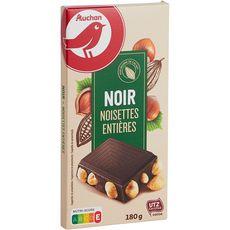 auchan tablette de chocolat noir aux