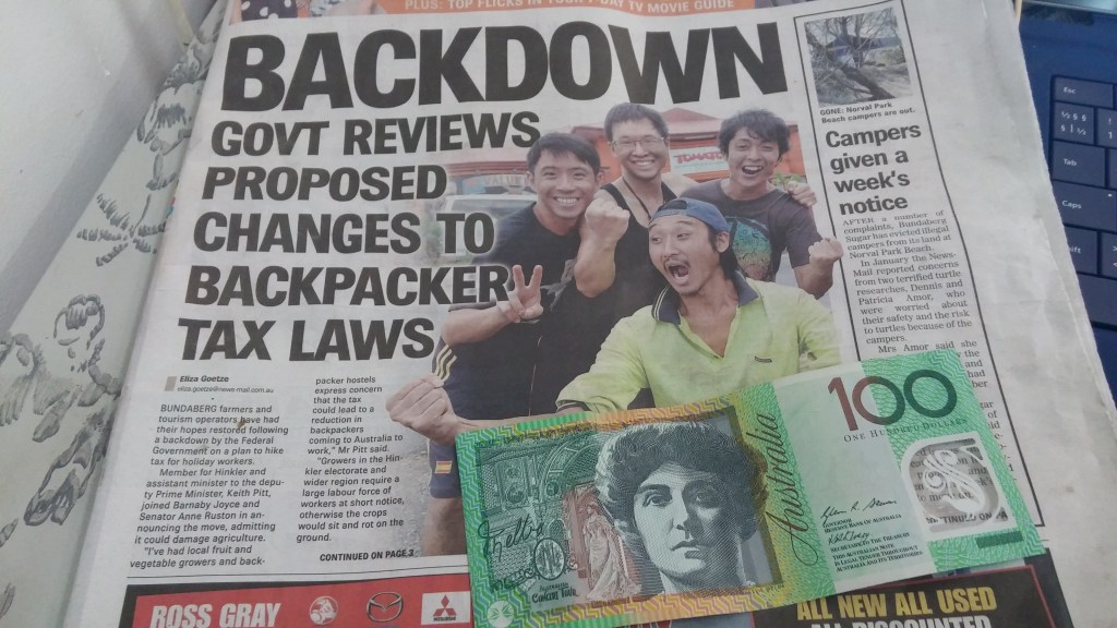 "Backpacker tax - ""Backpackerskatt"""