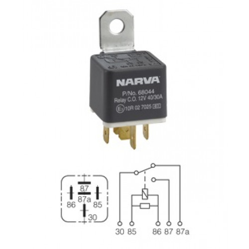 narva switch wiring diagram horse tack relay 12v 5pin 40/30a diode