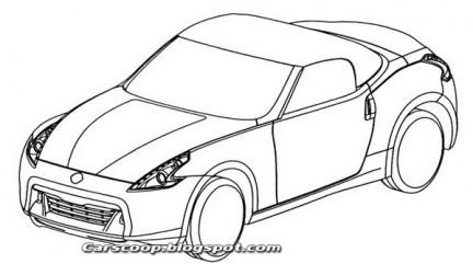 Bozzetti ufficiali della Nissan 370Z Roadster